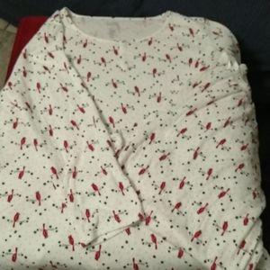Beautiful cardinal pajamas, sz 3X